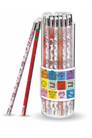 Μολύβι με Γόμα - Μικροί Κύριοι (4 σχέδια)